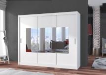 Šatní skříň Eira - 250x215x61 (bílá)