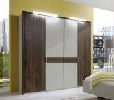Šatní skříň Imola - 4x dveře (champagne, nocce)