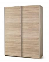Šatní skříň Lima - s posuvnými dveřmi (dub sonoma) - II. jakost