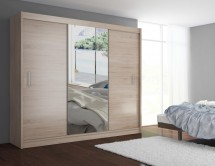 Šatní skříň Mosela - 250x215x61 cm (dub sonoma)