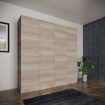 Šatní skříň Paluda - 205x204x52 cm (sonoma arwen)