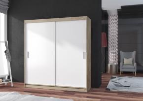 Šatní skříň Pop 2 - 180x215x60 cm (bílá/dub sonoma) - II. jakost