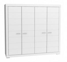 Šatní skříň Snow, 4x dveře (Bílá)