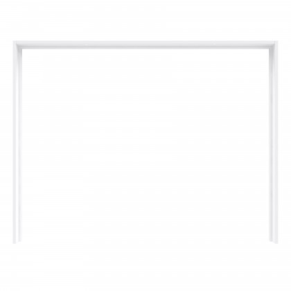 Šatní skříň Starlet Plus - Rám skříně s osvětlením (bílá lesk)