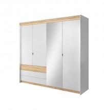 Šatní skříň Valeria 220x203x57 cm (dub craft/bílá)