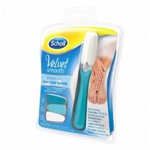 SCHOLL VelvetSmooth Elektrický pilník na nehty,modrý + olejíček zdarma