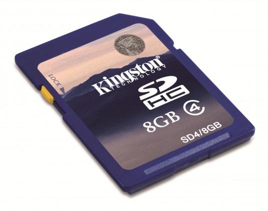 SDHC Kingston SDHC 8GB Class 4 - SD4/8GB