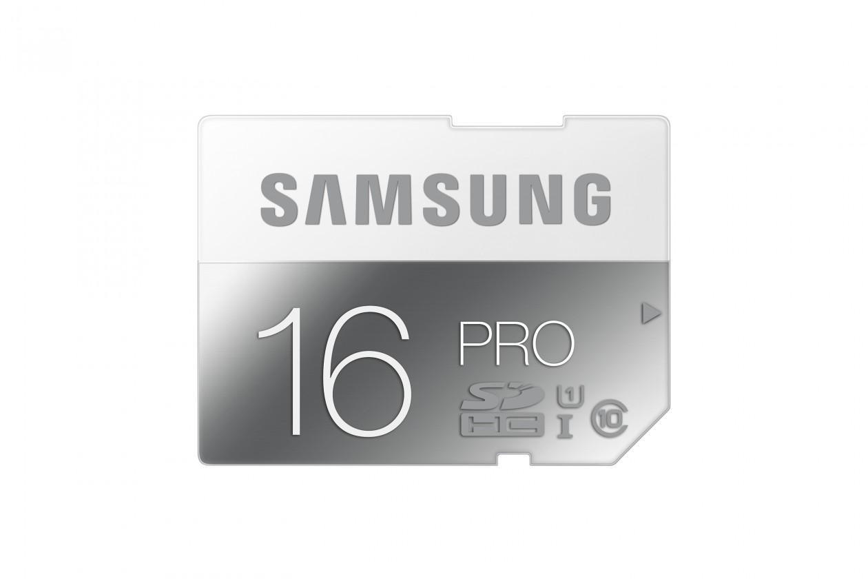 SDHC Samsung SDHC 16GB (class 10) PRO 90 MB/s - (MB-SG16D/EU)