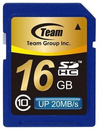 SDHC TEAM 16GB Secure Digital SDHC/ Class 10