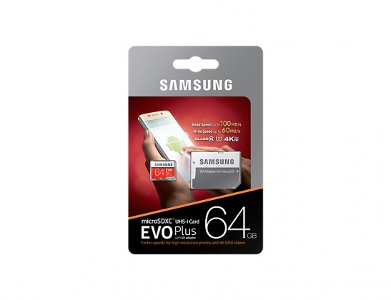 SDXC karta 64GB EVO Plus (Class10 UHS-3)+SD adaptér