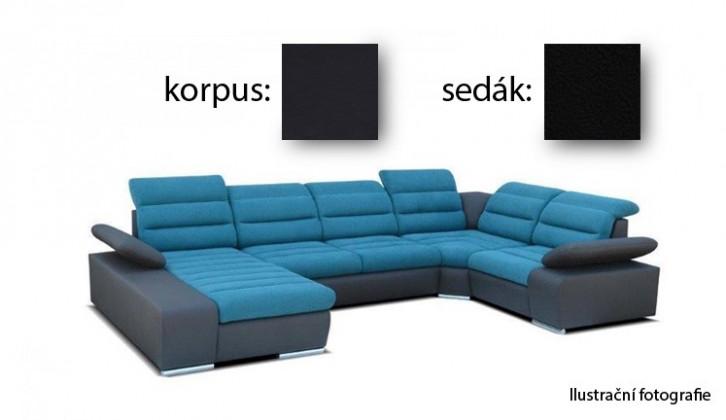 Sedací souprava tvar U Korfu II - levý roh, 4 + relax (soft 11 / aruba 19)