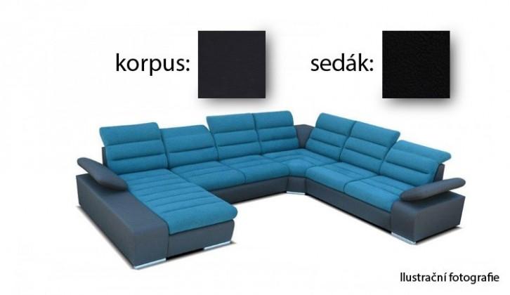 Sedací souprava tvar U Korfu III - levý roh, 2+2+ relax (soft 11 / aruba 19