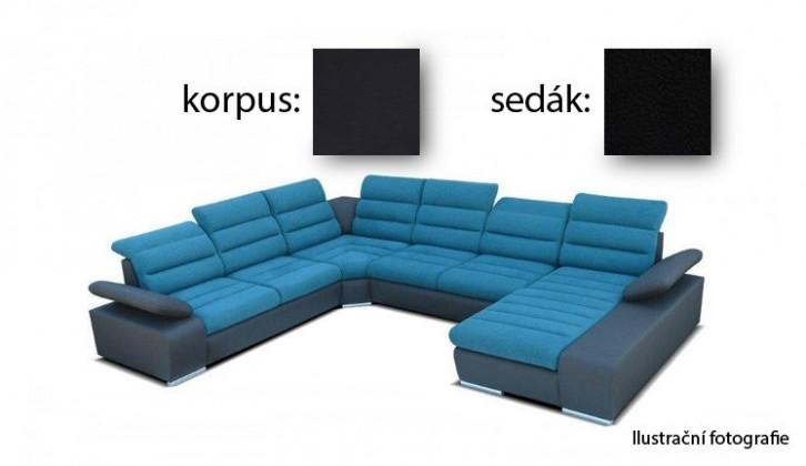 Sedací souprava tvar U Korfu III - pravý roh, 2+2+ relax (soft 11 / aruba 1