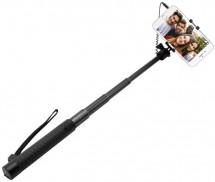 Selfie tyč Fixed SELF STICK, teleskopická, 22-68cm, černá
