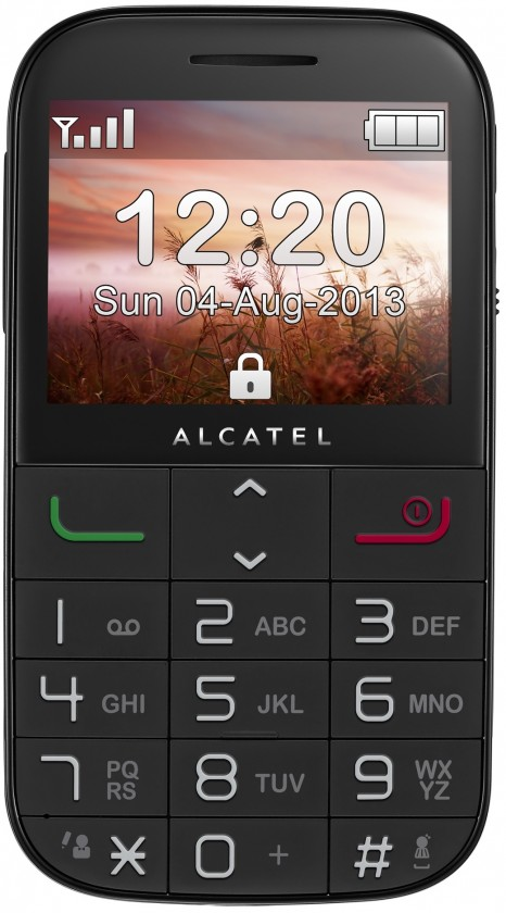 Senior telefon ALCATEL ONETOUCH 2000 Black ROZBALENO