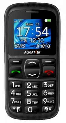 Senior telefon Aligator A420 Black