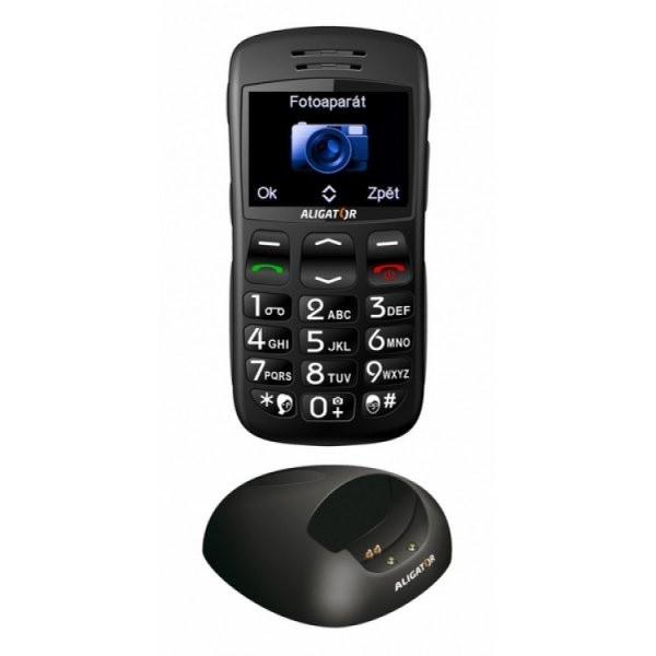 Senior telefon Aligator A600i Black
