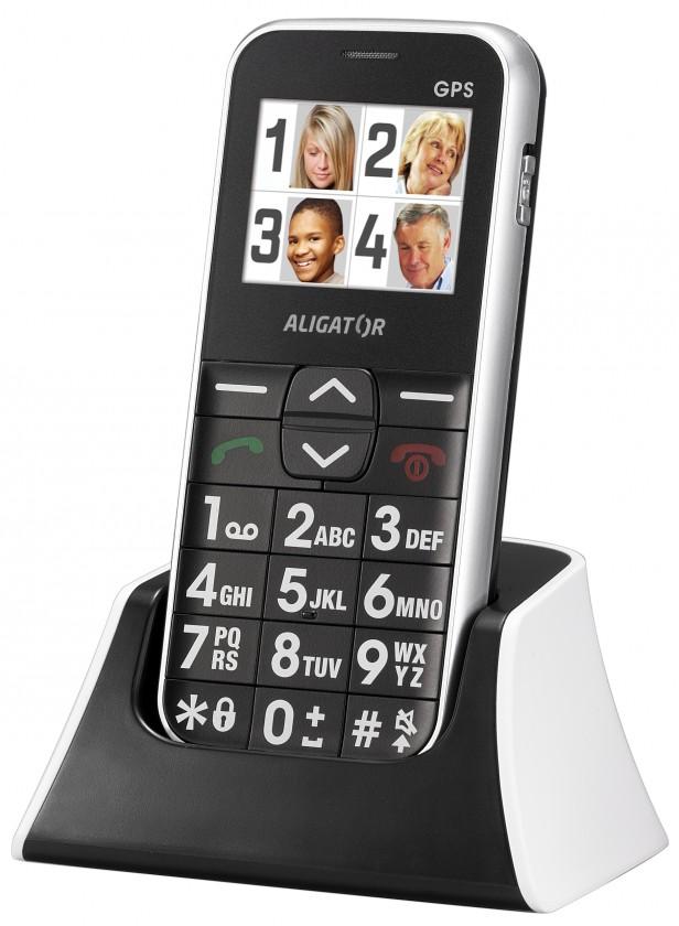 Senior telefon Aligator C200 Senior White ROZBALENO