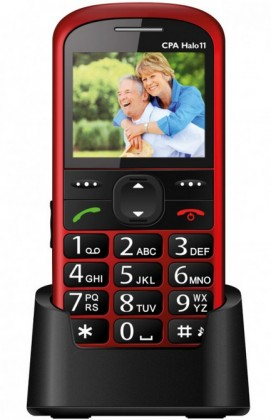 Senior telefon myPhone HALO 11 červená ROZBALENO