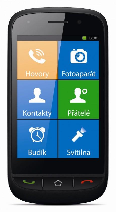 Senior telefon myPhone HALO X černý