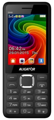 Senior telefon Tlačítkový telefon Aligator D940 DS, černá