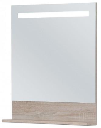 Sens - Zrcadlo 60 cm s LED osvětlením (sonoma)