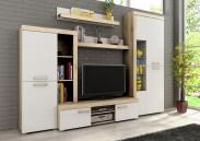 Sergio I - obývací stěna (san remo světlý/bílá)