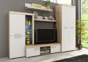 Sergio II - obývací stěna (san remo světlý/bílá)
