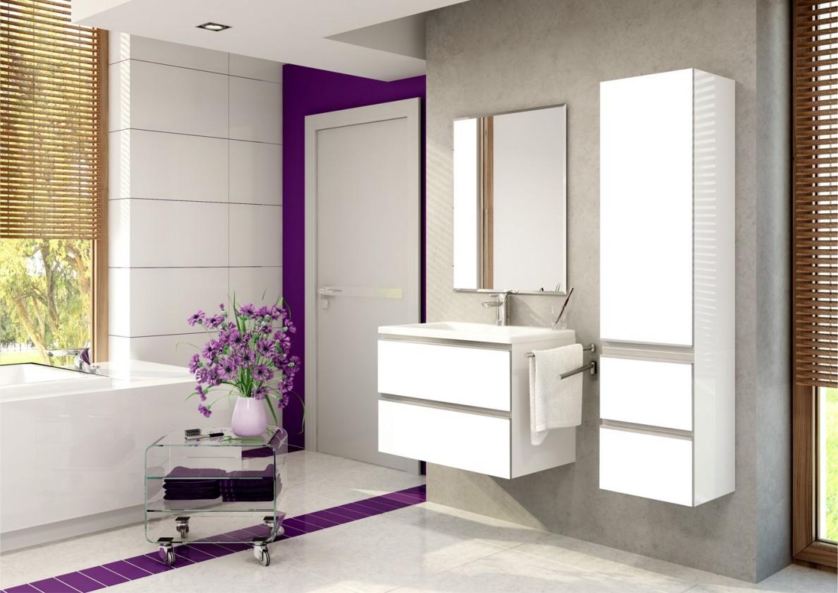 Sestava do koupelny Firenze - Koupelnová sestava (bílá,boky bílé)