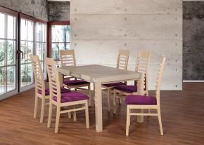 Set 17 - 6x židle,1x stůl,rozklad (dub sonoma/lana 76)