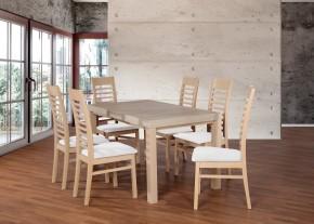 Set 17 - 6x židle,1x stůl,rozklad (dub sonoma/madryt 120)