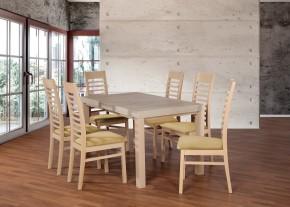 Set 17 - 6x židle,1x stůl,rozklad (dub sonoma/madryt 123)