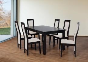 Set 24 - 6x židle,1x stůl,rozklad (wenge/dub sonoma/lana 21)