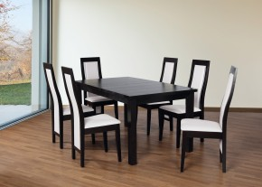 Set 24 - 6x židle,1x stůl,rozklad (wenge/dub sonoma/madryt 120)