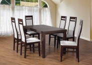 Set 3 - 6x židle, stůl, rozkládací (wenge/madryt 120/buk)