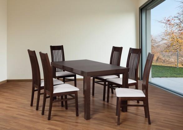 Set 6 - 6x židle,1x stůl,rozklad (ořech tmavý/madryt 120/buk)