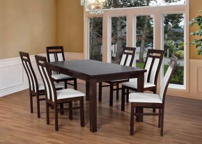Set 7 - 6x židle,1x stůl,rozklad (wenge/madryt 120)