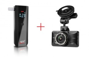 Set alkohol tester GTX Smart + autokamera CarForce A300