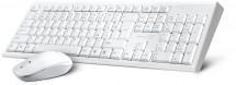 Set Connect IT CI-1118, klávesnice +myš, CZ + SK, bílá