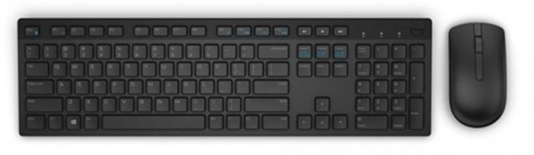 Set Dell KM636, bezdrátový, klávesnice+myš, CZ, černá