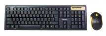 Set EVOLVEO WK-160, klávesnice a myš, bezdrátový, černý