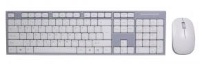 Set EVOLVEO WK-180, klávesnice a myš, bezdrátový, bílý