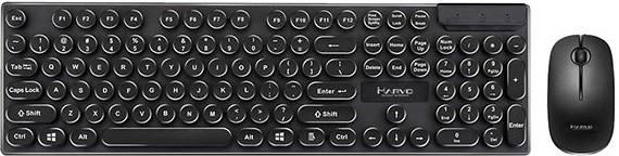 Set klávesnice s myší Bezdrátový set Marvo DCM002WE BK