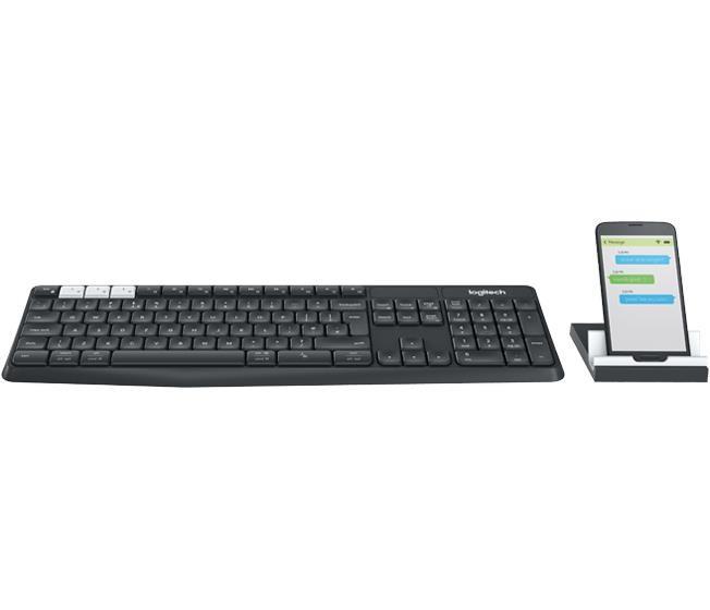 Set klávesnice s myší Logitech K375s Multi-Device Wireless Keyboard & Stand Combo