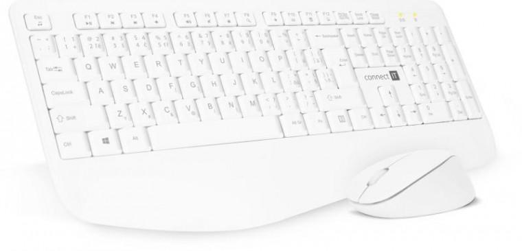 Set klávesnice s myší Set Connect IT CKM-7804-CS, klávesnice+myš, bezdrátový, CZ/SK