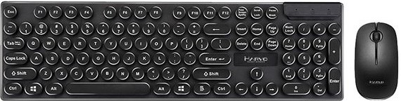 Set klávesnice s myší Set Marvo DCM002WE BK, klávesnice s bezdrátovou myší, US, černá