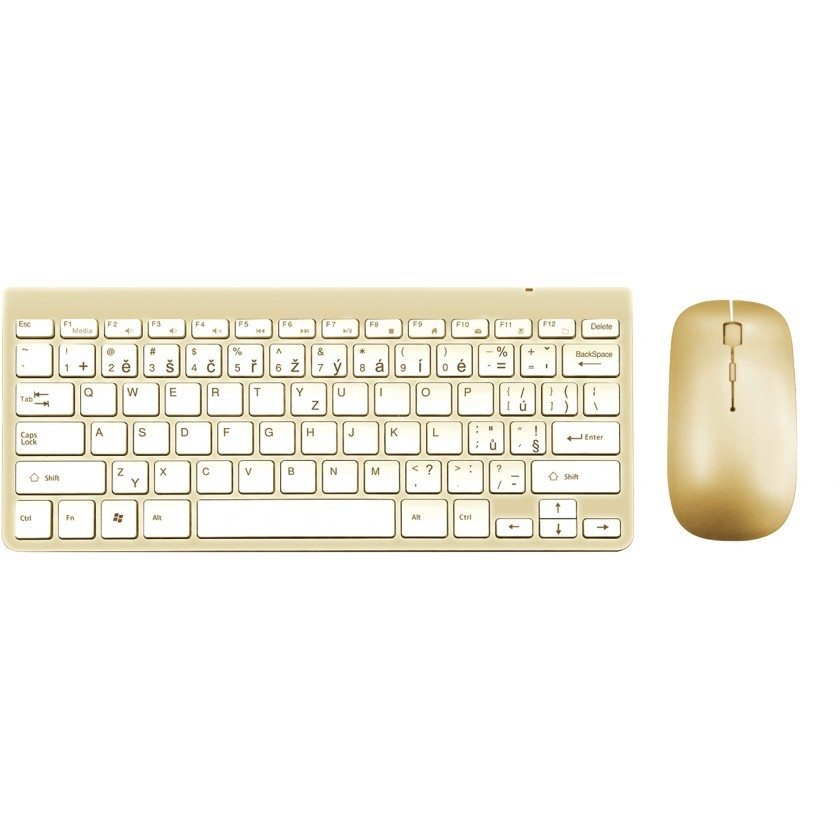 Set klávesnice s myší Set WG klávesnice + myš, bluetooth, zlatá