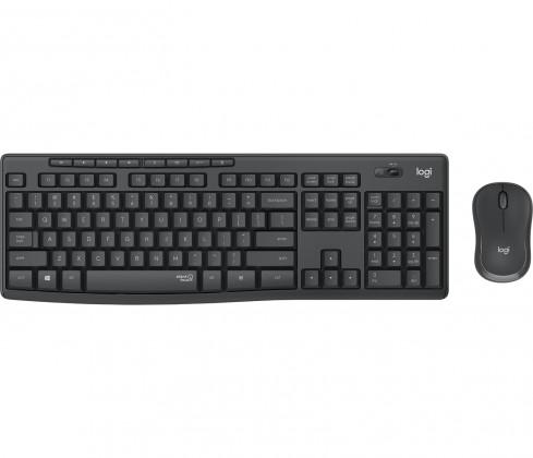 Set Logitech MK295, bezdrátový, tichý, CZE, černá