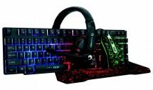 Set Marvo CM370, klávesnice, myš, podložka, sluchátka, herní