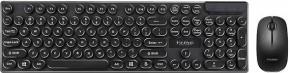 Set Marvo DCM002WE BK, klávesnice s bezdrátovou myší, US, černá